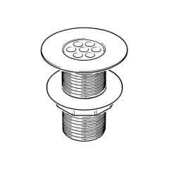 """Shower Waste 73mm Flange Top Clean Tail Chrome 1.1/2"""""""
