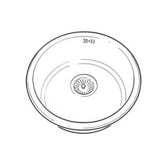 Single Round Bowl Stainless Steel - 440mm