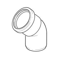 Single Socket Bend Soil & Vent Elbow - 82mm x 135°