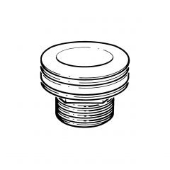 "Sink Waste Outlet 1.1/2"" BSP x 36.4mm Tail, 80mm Flange"