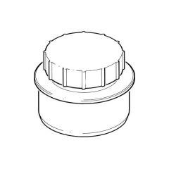 Soil & Drain Access Cap Screwed/Spigot Tail 110mm Black