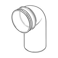 Solvent Weld Single Socket Bend 90° x 110mm Olive Grey