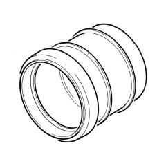 Solvent Weld Straight Coupling Ring Seal x Solvent - 110mm Olive Grey