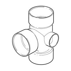 Solvent Weld Triple Socket Branch - 92.1/2° x 110mm Olive Grey