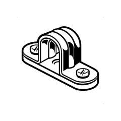 Metal Conduit Space Bar Saddle Clip - 20mm
