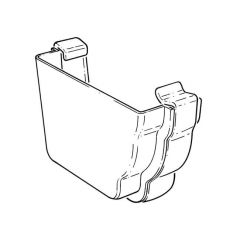 Stop End External Left Hand - Square High Capacity - White