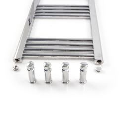 Straight Towel Rail Chrome Plated 1200 x 600mm, 466W