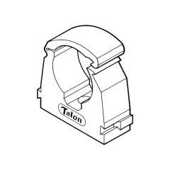 Talon Chrome Single Hinged Pipe Clip 22mm, 10 Pack