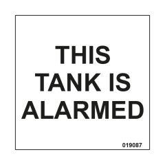 Tank Alarmed Warning Label