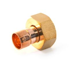 """End Feed Straight Tap Connector 15mm x 1/2"""" Union Nut"""