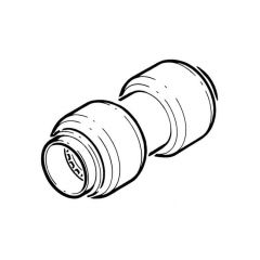 Tectite Classic Push-fit Straight Coupling - 15mm