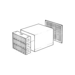 TEL99 Ventilator - Terracotta/White