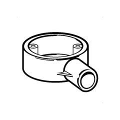 PVC Conduit Round 1 Way Terminal Box White - 20mm
