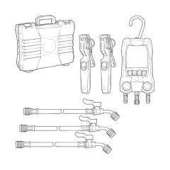 Testo 550S Digital Refrigeration Manifold Set - Smart + Hose Set