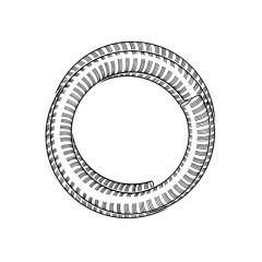 Gas stainless steel flexible flue liner 125mm x 9m