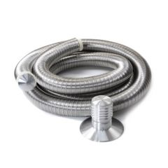 Triplelock Gas Flue Liner Pack with Terminal 125mm x 9m