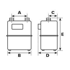 ITRON U160P Diaphragm Gas Meter