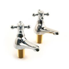 Victorian Bath Taps, Pair