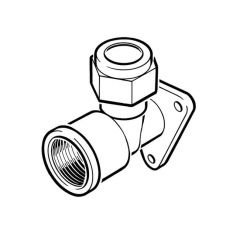 Wallplate Elbow UK Compression - 15mm x 1/2""