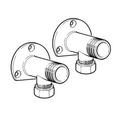 Shower Wallplate Elbows - Pair