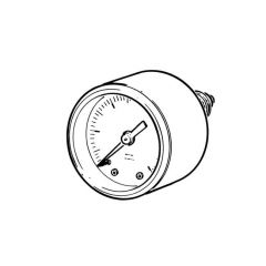 "Water & Air Pressure Gauge 0 to 6 bar, 1/4"" Back"