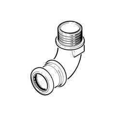 """Xpress Stainless Elbow Connector - 22mm x 3/4"""" BSP TM"""