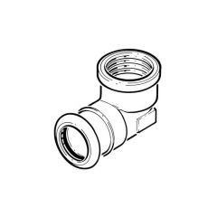 """Xpress Stainless Elbow Connector - 22mm x 3/4"""" BSP"""