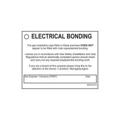 Electrical Bonding Label