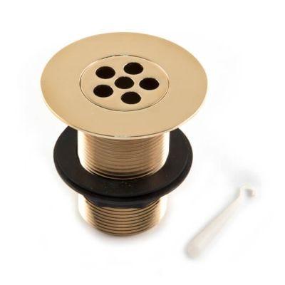 """Shower Waste 86mm Flange 3.1/2"""" Tail Gold 1.1/2"""""""