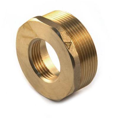 """Brass Threaded Hexagon Bush 1.1/2"""" BSP PM x 1.1/4"""" BSP PF"""