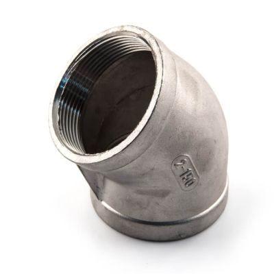 """Screwed Stainless Steel 45° Elbow - 1.1/4"""" BSP"""