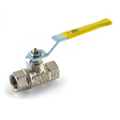 "Gas Ball Valve - 1/2"" BSP TF Yellow Lever Handle"