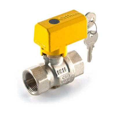 Lockable Gas Ball Valve - Full Bore 1/2""