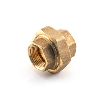"Brass Threaded Straight Union Cone Seated 1/2"" BSP PF"