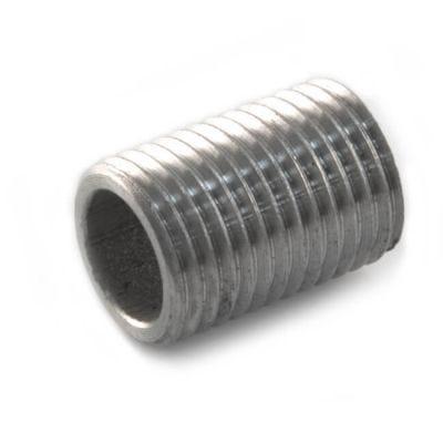 """Screwed Stainless Steel Parallel Nipple 1/4"""" BSP M"""