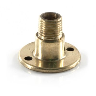"Floor Plate - 1/4"" BSP TM x 1/4"" F Polished Brass"