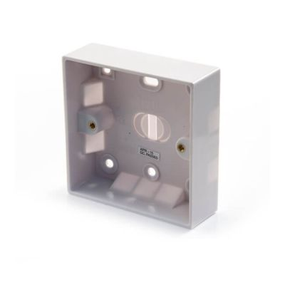 Surface-Mounted Pattress Box - 1 Gang, 25mm Deep