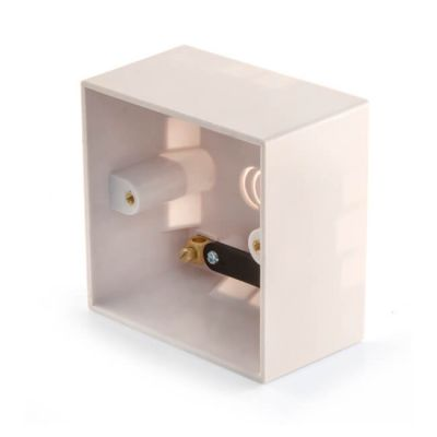 Surface-Mounted Pattress Box - 1 Gang, 45mm Deep