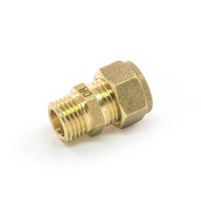"""DZR Compression Straight Adaptor 10mm x 1/4"""" BSP PM"""