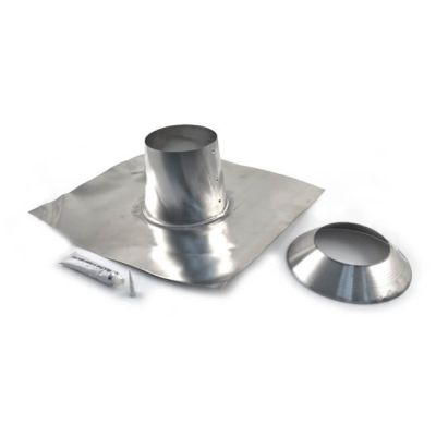 Schiedel B Vent Flat Roof Flashing Kit Tall Cone 100mm