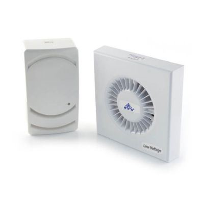 100 mm - Low Voltage Fan With Timer & Transformer - Wall Fan