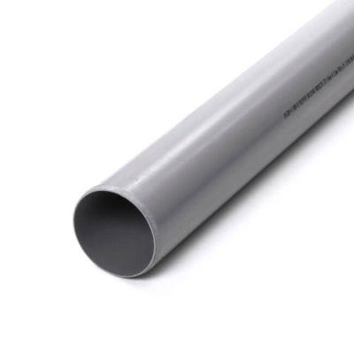 Soil & Vent Plain End Pipe - 110mm x 3m Grey