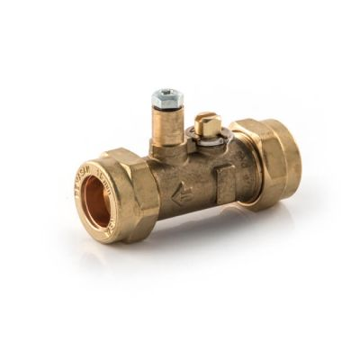 Gas Ball Valve - 15mm Compression Brass