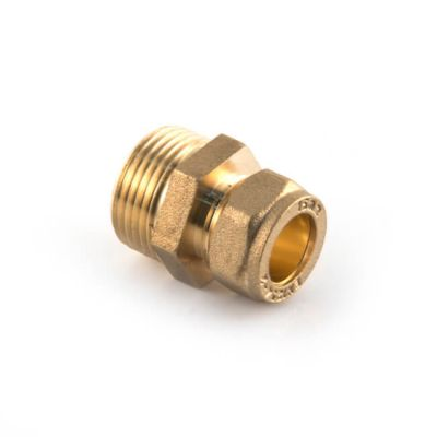 """Solar Pipe Coupler 15mm Comp. x 3/4"""" M for DN16 Pipe"""