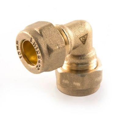 DZR Compression Elbow - 15mm