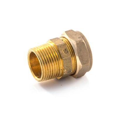 """DZR Compression Straight Adaptor 15mm x 1/2"""" BSP TM"""