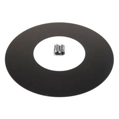 ICID Plus Magnetic Firestop Cover Plate 150mm Black