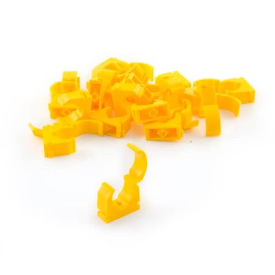 Talon Identification Pipe Clips 22mm, 20 Pack, Yellow