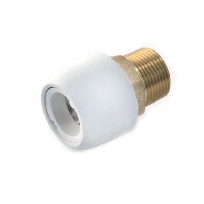 """Hep2O® Adaptor - 22mm x 3/4"""" BSP M White DZR"""