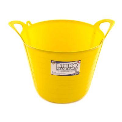 Rhino Flexi Tub Yellow 26 Litre